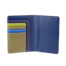 DuDu Porta passaporto in pelle Woods multicolore con tasche porta carte