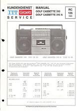 ITT/Graetz Service Manual für Golf cassette 310