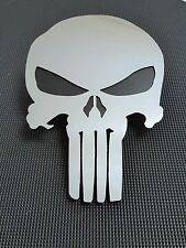 PUNISHER MESH GRILLE MIRROR POLISHED EMBLEM BADGE