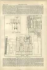 1887 planta de luz eléctrica en whiteleys Bayswater Drapers plan de tienda