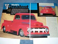 "1952 Ford F-1 Pickup Truck Article ""World's Greatest"" F1 Pro Street"