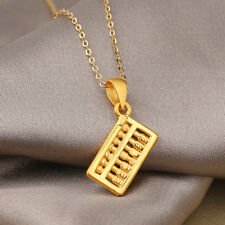 Authentic Solid 24K Yellow Gold Pendant Lovely Abacus Pendant 14.5mm