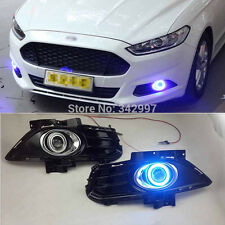 2x LED Daytime Fog Lights Projector angel eye kit For Ford Mondeo Fusion 2013-15