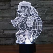 3D Night Lamp Colorful Turtle Shape Touch Control Light 7Colors Change USB LED /