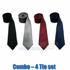 Combo pack of 4 Skinny Slim Men's Tie formal tie gift combo birthday gift