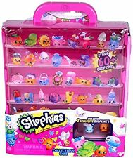SHOPKINS COLLECTORS CASE Pink Store/Display 60+ Shopkins Stackable PRIORITY SHIP