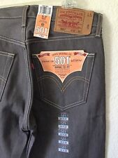 Levi's 501 Jeans Button Fly Rigid Shrink to Fit Taupe Gray Brown W 32 L32 New