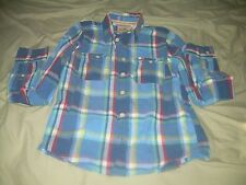 HOLLISTER LADIES LONG SLEEVE SHIRT WITH 2 POCKETS SIZE XL MULTI-COLOR