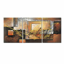 Canvas Print Abstract Painting Reproduction on Canvas Picture Brown Art Framed