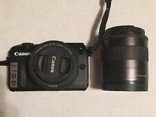 Canon EOS M 18.0 MP Digital Camera - w/ EF-M STM 22mm and EF-M IS STM 18-55mm