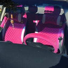 Pink Seat Cover Anti Slip Material Fit Mid Size Sedan Car Suv 21601 Circle Cool