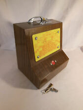 Old Coin Operated Score Keeper of Horse Shoe Toss Game with Key RARE & VINTAGE