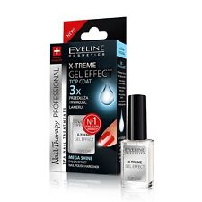 Eveline Cosmetics X-treme Gel Effect Top Coat Nail Polish Hardener Mega Shine