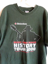 Heineken Music That Makes History Tour  2000  T Shirt  Cotton  Green  XL