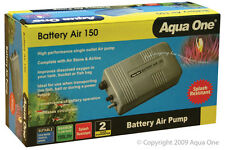Aqua One A1-10022 Battery Air 150 Air Pump 150L/h for Aquariums, Marine Tanks