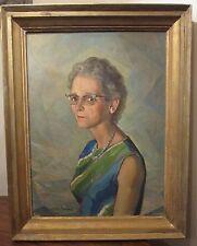 large antique Andres Antonio Martenez signed oil painting on canvas portrait