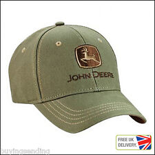 UK SELLER BRAND NEW LICENSED JOHN DEERE CANVAS COTTON MOSS CAP BASEBALL DEAR HAT