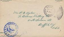 WORLD WAR I WWI MILITARY SOLDIER MAIL COVER W/CENSOR STAMP A.E.F.  #15