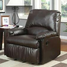 Brown Leatherette Glider Recliner Lazy Chair Reclining Furniture Seat Home Boy