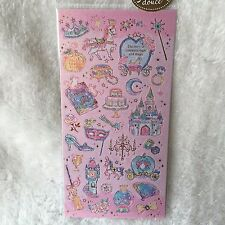 Cinderella Disney Princess Shinny Stickers Scrapbook diary Cardmaking Phone DIY