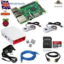 Raspberry pi 3 16GB 2x snes retropie ultimate starter kit white official case