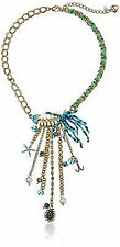 Betsey Johnson Shell Shocked Fish Skeleton Tassle Necklace NWT $58 *Authentic*