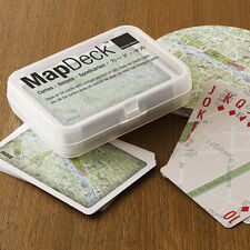 "Playing Cards - ""MapDeck"" - ""Paris"" - Unique portion of city map on each card!"