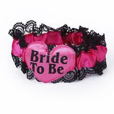 Bride To Be Heart Lace Garter Black Pink for Hen Night Party Bridal Shower