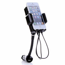 FM TRANSMITTER HANDS FREE CHARGER CAR HOLDER 8PIN FOR IPHONE 5 HTC NOKIA MP3 MP4