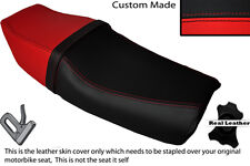 RED & BLACK CUSTOM FITS HONDA VFR 400  NC21 85-87 DUAL LEATHER SEAT COVER
