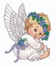 20 Watercolor Angel Designs for Machine Embroidery