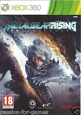 METAL GEAR RISING REVENGEANCE for Xbox 360 - with box & manual - PAL