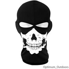 Skeleton Skull 2 Hole Balaclava Face Mask Ski Motorcycle Thermal Hat Neck Warmer