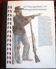 Civil War History of the 36th / 7th Pennsylvania Reserves Infantry Regiment