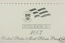 U.S Mint, DCAM  Silver Proof Set. 2007  Birth Year