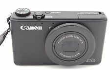 Canon PowerShot S110 12.1MP Digital Camera BLACK w/ Battery and Charger