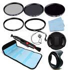 52/55/58/62/67/72/77/82mm ND248+Slim Circular Polarizer CPL+UV Filter Kit