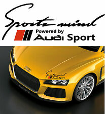 'Sports Mind' powered by~*AUDI Sport *~ Body Panel sticker decal