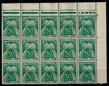 TIMBRES FRANCE 1946/55 TAXE BLOC de 15 n°80 COTE 420€  NEUF** SUPERBE