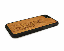 Handcrafted Wood iPhone 6 Case with Soft Rubber Sides by Nuwoods, Fashion Deer