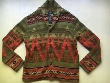$298 Polo Ralph Lauren Southwestern Printed Cotton Sweater Cardigan-MEN-XXL