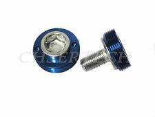 New Bicycle Bike M8 Square Tapered Crank Axle Bolts 8mm Blue 2 Pcs/Set