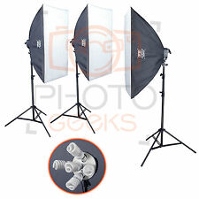 Studio Lighting Softbox Kit - 3375w 3 Head - Continuous Set Photography Video