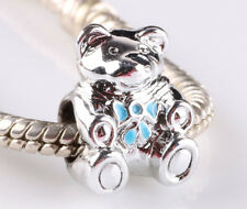 new 2pcs silver painted animals in line with European charm bead bracelet AR621