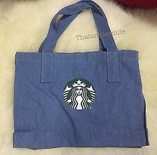 LIMITED EDITION NEW STARBUCKS BLUE JEANS SHOPPING BAG SEP 2016 THAILAND 36x27CM