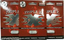 TRIPLE X  XxX 2000 Male Sexual Enhancement! 3PILL DEAL! WOW  Erect,Hard,Libido