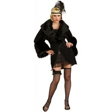 Adult 20's Flapper Coat Great Gatsby Costume Halloween Fancy Dress