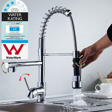 AU Brass Pull out kitchen basin mixer tap sink Laundry faucet  WELS Swivel Spout