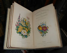 1839 The Flower Garden - Cultivation of Garden Flowers - Hand-coloured plates