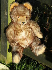 SUPERB LARGE OLD HERMANN BEAR WITH TIPPED MOHAIR (2 COLOUR) BEAUTIFUL EXAMPLE